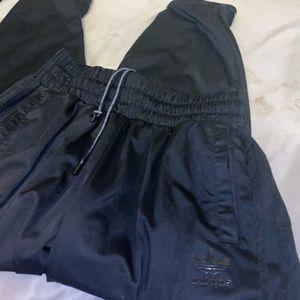 ADIDAS All Black Trackpants Size L